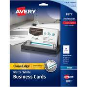 "Avery Clean Edge(R) Business Cards, True Print(R) Matte, Two-Sided Printing, 2"" x 3-1/2"", 200 Cards (8871)"