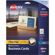 "Avery Clean Edge(R) Business Cards, True Print(R), Matte Ivory, Two-Sided Printing,2"" x 3-1/2"", 200 Cards (8876)"