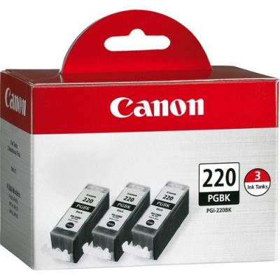 Canon PGI-220BK Original Ink Cartridge (PGI220BK3PK)