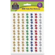 Teacher Created Resources Valu-Pak Foil Stars Sticker (6644)