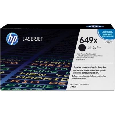 HP 649X High Yield Black Original LaserJet Toner Cartridge (CE260X)