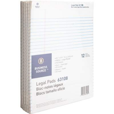 Business Source Micro-Perforated Legal Ruled Pads (63108)