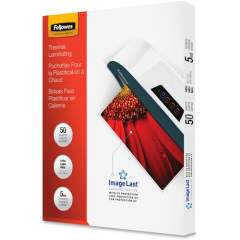 Fellowes Thermal Laminating Pouches - ImageLast, Jam Free, Letter, 5 mil, 50 pack (5204002)