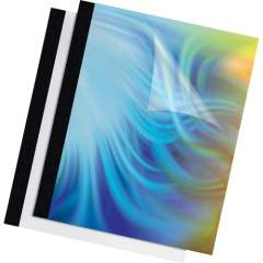 """Fellowes Thermal Presentation Covers - 3/8"""" , 90 sheets, Black (5256101)"""