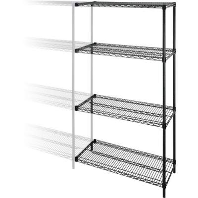 Lorell Industrial Adjustable Wire Shelving Add-On-Unit (69142)