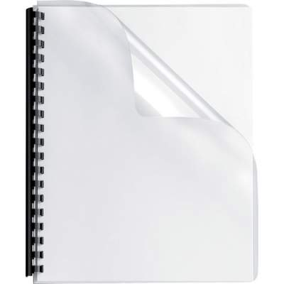 Fellowes Crystals Clear PVC Covers - Oversize, 100 pack (52311)