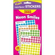 TREND superSpots Neon Smiles Stickers Variety Pack (T1942)