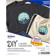 Avery Printable T-Shirt Transfers, For Use on Dark Fabrics, Inkjet Printers, 5 Paper Transfers (3279)