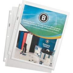 Business Source Top-Loading Poly Sheet Protectors (74551)