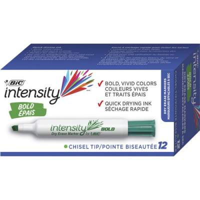 BIC Intensity Chisel Point Whiteboard Markers (GDEM11GN)