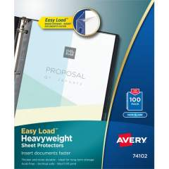 Avery Heavyweight Sheet Protectors, Archival Safe, 100 Protectors (74102)