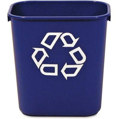 Rubbermaid Commercial Blue Deskside Recycling Container (295573BE)