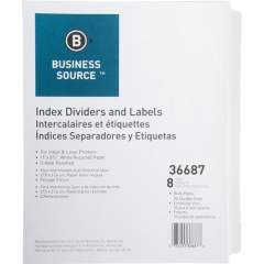 Business Source Punched Laser Index Dividers (36687)