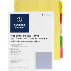 Business Source Insertable Tab Ring Binder Indexes (36692)