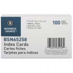 Business Source Plain Index Cards (65258)