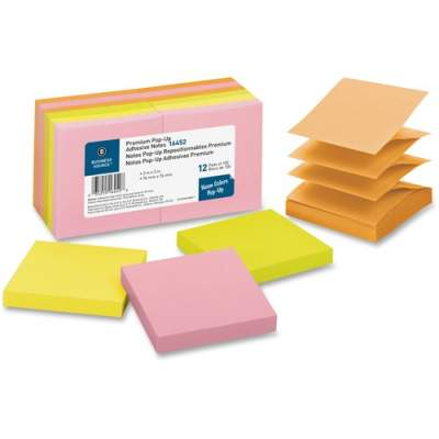 Business Source Reposition Pop-up Adhesive Notes (16452)