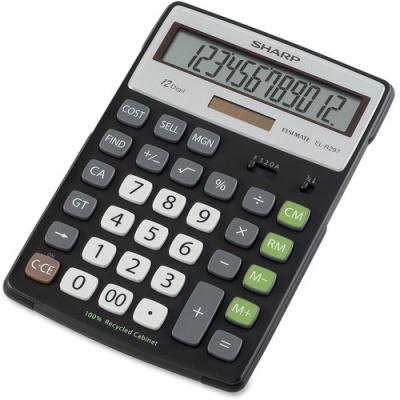 Sharp EL-R297BBK 12-Digit Extra Large Desktop Calculator