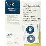 Business Source Laser/Inkjet CD/DVD Labels (26148)