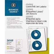 Business Source Laser/Inkjet CD/DVD Labels (26149)