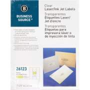 Business Source Clear Laser Print Mailing Labels (26123)