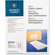 Business Source Bright White Copier Labels (26131)