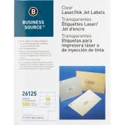 Business Source Clear Shipping Labels (26125)