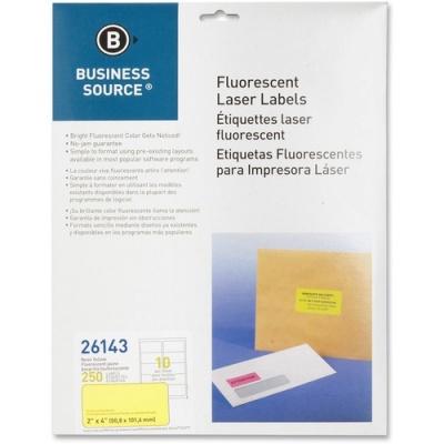 "Business Source 2"" Fluorescent Color Laser Labels (26143)"