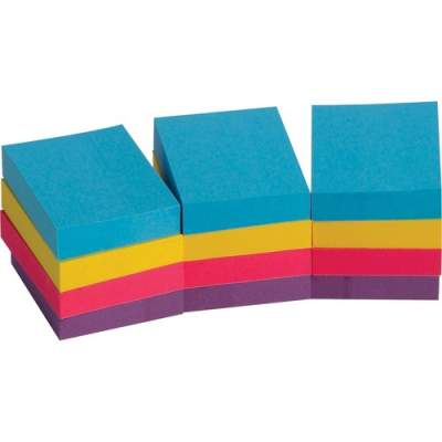 Business Source Extreme Color Adhesive Notes (16498)