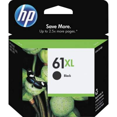 HP 61XL High Yield Black Original Ink Cartridge (CH563WN)
