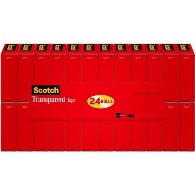 "3M Scotch Transparent Tape, 3/4"" x 1000"" (600K24)"