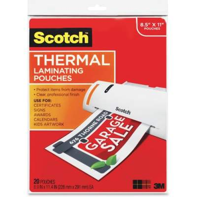 3M Scotch Thermal Laminating Pouches (TP3854-20)