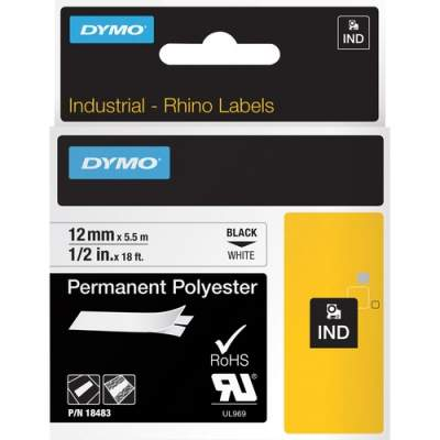 Newell Rubbermaid Dymo Rhino Permanent Poly Labels (18483)