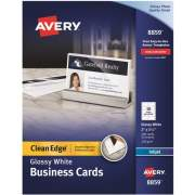 "Avery Clean Edge(R) Business Cards, Two-Side Printable, Glossy/Matte Back, 2"" x 3-1/2"", 200 Cards (8859)"