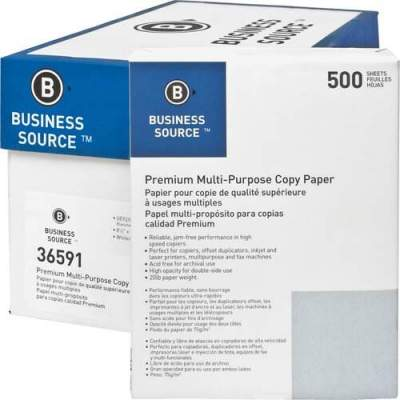 Business Source Premium Multipurpose Copy Paper (36591CT)