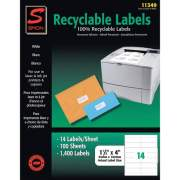 Simon SJ Paper Recyclable Laser/Ink Jet Labels (11349)