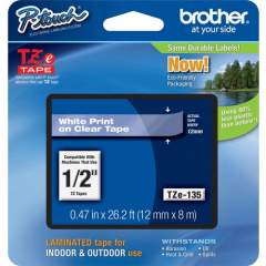 Brother P-touch TZe Laminated Tape Cartridges (TZE135)