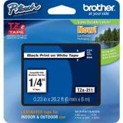 Brother P-touch TZe Laminated Tape Cartridges (TZE211)