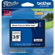 Brother P-touch TZe Laminated Tape Cartridges (TZE221)