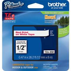 Brother P-touch TZe Laminated Tape Cartridges (TZE232)