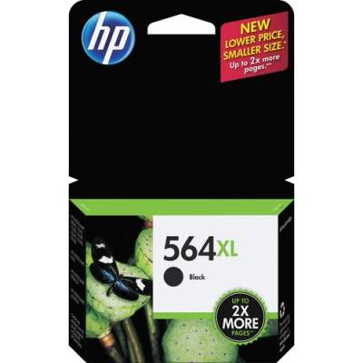 HP 564XL High Yield Black Original Ink Cartridge (CN684WN)