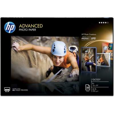 HP Advanced Glossy Photo Paper-20 sht/A3+/330 x 483 mm (13 x 19 in) (CR696A)