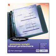 Wilson Jones Economy Weight Top-Loading Sheet Protectors, Letter, 100/Box (21421)