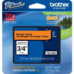 """Brother P-touch TZe 3/4"""" Laminated Lettering Tape (TZEB41)"""