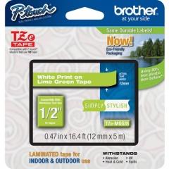 "Brother PTouch 1/2"" Laminated TZe Tape (TZEMQG35)"