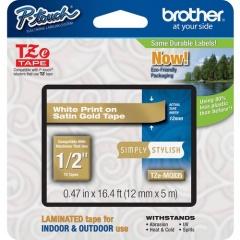 "Brother PTouch 1/2"" Laminated TZe Tape (TZEMQ835)"