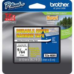 Brother TZ Super Narrow Non-laminated Tapes (TZEN201)