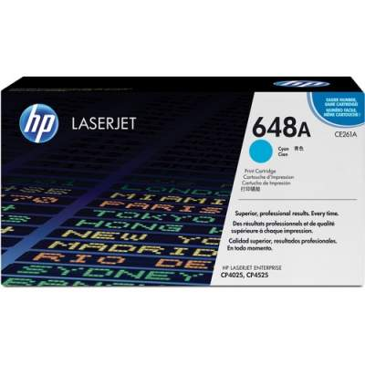 HP 648A Cyan Original LaserJet Toner Cartridge for US Government (CE261AG)