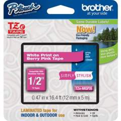 """Brother PTouch 1/2"""" Laminated TZe Tape (TZEMQP35)"""