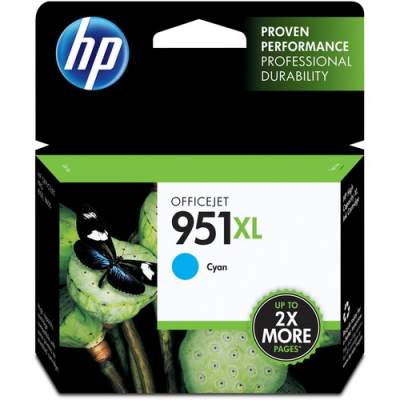 HP 951XL High Yield Cyan Original Ink Cartridge (CN046AN)