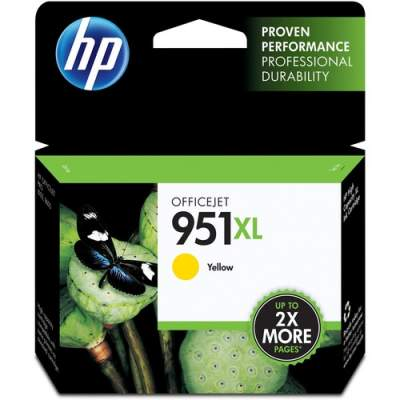 HP 951XL High Yield Yellow Original Ink Cartridge (CN048AN)